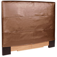 Signature Bronze and Faux Leather Headboard, King