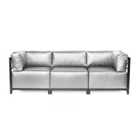 Howard Elliott Collection K923T-770 Axis Silver Sofa Sectional, 3 Piece photo thumbnail