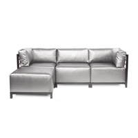 Howard Elliott Collection K924T-770 Axis Silver Sofa Sectional, 4 Piece photo thumbnail