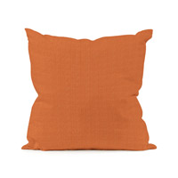 Seascape Orange Outdoor Pillow, Square