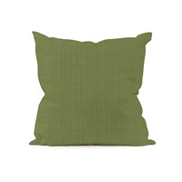 Seascape Yellow and Green Outdoor Pillow, Square