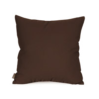 Seascape Chocolate Brown Outdoor Pillow, Square