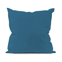 Seascape 20 X 6 inch Ocean Blue Outdoor Pillow, Square