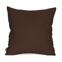 Seascape 20 X 6 inch Chocolate Brown Outdoor Pillow, Square