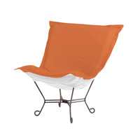 Seascape Orange Outdoor Patio Chair