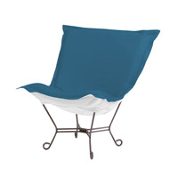 Howard Elliott Collection Q500-298 Seascape Ocean Blue Outdoor Patio Chair