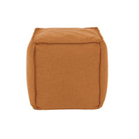 Pouf 18 inch Orange Outdoor Ottoman
