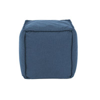 Pouf 18 inch Blue Outdoor Ottoman