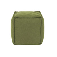 Pouf 18 inch Green Outdoor Ottoman