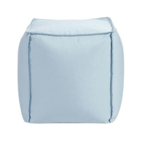 Howard Elliott Collection Q873-461 Pouf 18 inch Blue Outdoor Ottoman photo thumbnail