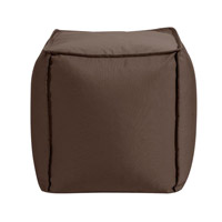 Pouf 18 inch Brown Outdoor Ottoman