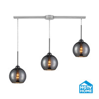 HGTV HOME Cassandra 3 Light Pendant in Polished Chrome and CHR Shade 10240/3L-CHR