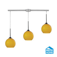 HGTV HOME Cassandra 3 Light Pendant in Polished Chrome and LEM Shade 10240/3L-LEM