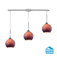 HGTV HOME Cassandra 3 Light Pendant in Polished Chrome and PUR Shade 10240/3L-PUR
