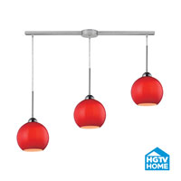 HGTV HOME Cassandra 3 Light Pendant in Polished Chrome and VERM Shade 10240/3L-VERM