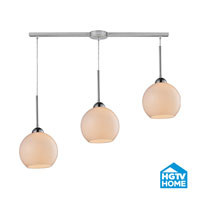 HGTV HOME Cassandra 3 Light Pendant in Polished Chrome and White Shade 10240/3L-WH