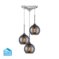 HGTV HOME Cassandra 3 Light Pendant in Polished Chrome and CHR Shade 10240/3CHR