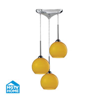 HGTV HOME Cassandra 3 Light Pendant in Polished Chrome and LEM Shade 10240/3LEM