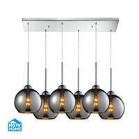 HGTV HOME Cassandra 6 Light Pendant in Polished Chrome and CHR Shade 10240/6RC-CHR