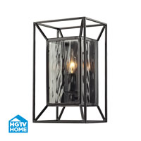 HGTV HOME Cubix 1 Light Wall Sconce in Oiled Bronze 14120/1