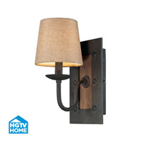 HGTV HOME Early American 1 Light Wall Sconce in Vintage Rust 14130/1