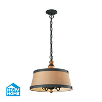 HGTV HOME Early American 4 Light Chandelier in Vintage Rust 14131/4