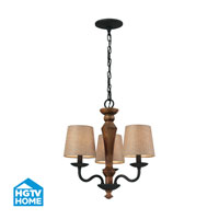 HGTV HOME Early American 3 Light Chandelier in Vintage Rust 14132/3