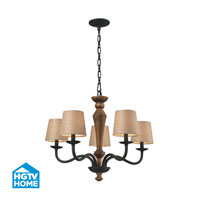 HGTV HOME Early American 5 Light Chandelier in Vintage Rust 14133/5