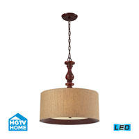HGTV HOME Nathan 3 Light Pendant in Dark Walnut 14141/3-LED