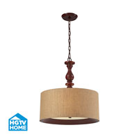 HGTV HOME Nathan 3 Light Pendant in Dark Walnut 14141/3