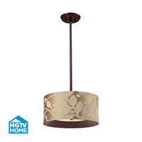 HGTV HOME Nathan 3 Light Semi Flush in Dark Walnut 14150/3
