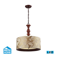HGTV HOME Nathan 3 Light Pendant in Dark Walnut 14151/3-LED