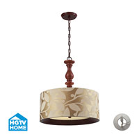 HGTV HOME Nathan 3 Light Pendant in Dark Walnut 14151/3-LA