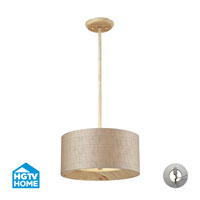 HGTV HOME Nathan 3 Light Semi Flush in Washed Pine with Recessed Conversion Kit 14160/3-LA