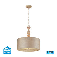 HGTV HOME Nathan 3 Light Pendant in Washed Pine 14161/3-LED