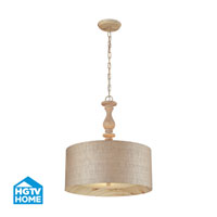 HGTV HOME Nathan 3 Light Pendant in Washed Pine 14161/3