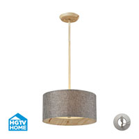 HGTV HOME Nathan 3 Light Semi Flush in Washed Pine with Recessed Conversion Kit 14170/3-LA
