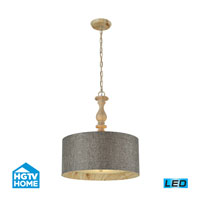 HGTV HOME Nathan 3 Light Pendant in Washed Pine 14171/3-LED