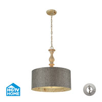 HGTV HOME Nathan 3 Light Pendant in Washed Pine 14171/3-LA