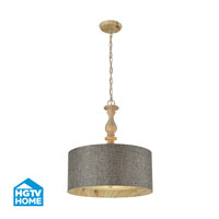 HGTV HOME Nathan 3 Light Pendant in Washed Pine 14171/3