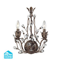 HGTV HOME Sagemore 2 Light Wall Sconce in Bronze Rust 18140/2