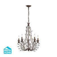 HGTV HOME Sagemore 5 Light Chandelier in Bronze Rust 18143/5