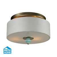 HGTV HOME Lilliana 2 Light Semi Flush in Aged Silver 31361/2