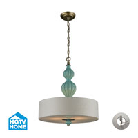 HGTV HOME Lilliana 3 Light Pendant in Aged Silver 31362/3-LA
