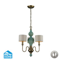 HGTV HOME Lilliana 3 Light Chandelier in Aged Silver with Recessed Conversion Kit 31363/3-LA