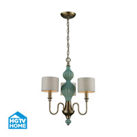 HGTV HOME Lilliana 3 Light Chandelier in Aged Silver 31363/3