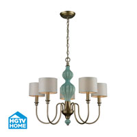 HGTV HOME Lilliana 5 Light Chandelier in Aged Silver 31364/5