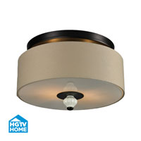 HGTV HOME Lilliana 2 Light Semi Flush in Aged Bronze 31371/2