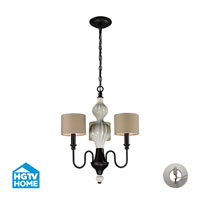 HGTV HOME Lilliana 3 Light Chandelier in Aged Bronze with Recessed Conversion Kit 31373/3-LA