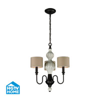 HGTV HOME Lilliana 3 Light Chandelier in Aged Bronze 31373/3